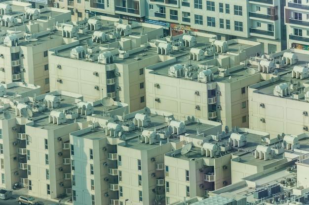 Belle vue sur la ville de dubaï d'en haut