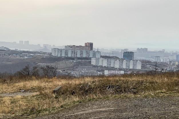 Belle vue sur la ville industrielle