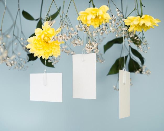 Belles invitations de mariage vue de face