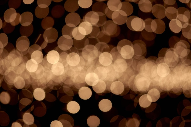 Belles lumières de noël avec des lumières bokeh