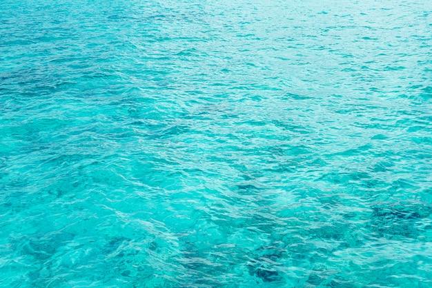 Belles textures de surface de vagues d'eau de mer et océan