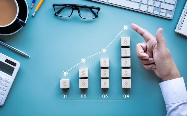 Bénéfice ou revenu d'entreprise grandissant