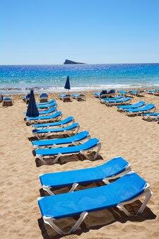 Benidorm levante beach à alicante en espagne