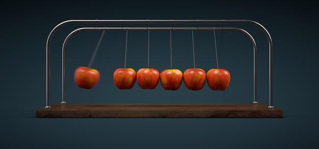 Le berceau des pommes de newton