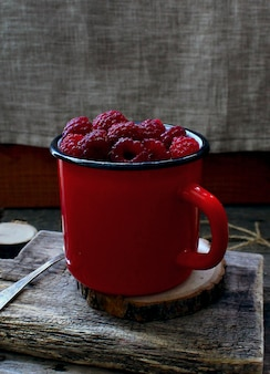 Berry framboise rouge mug arbre rustique