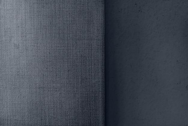 Béton gris et toile de fond texturé en tissu