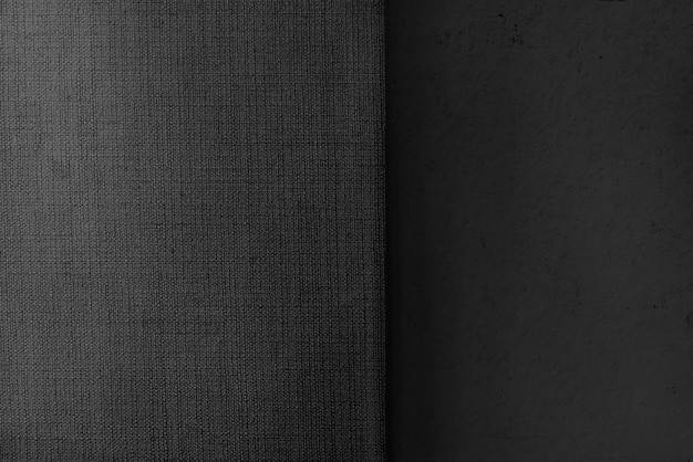 Béton gris et toile texturée