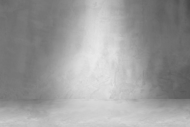 Béton de sol grungy et lisse blanc et mur, fond abstrait vide, maquette