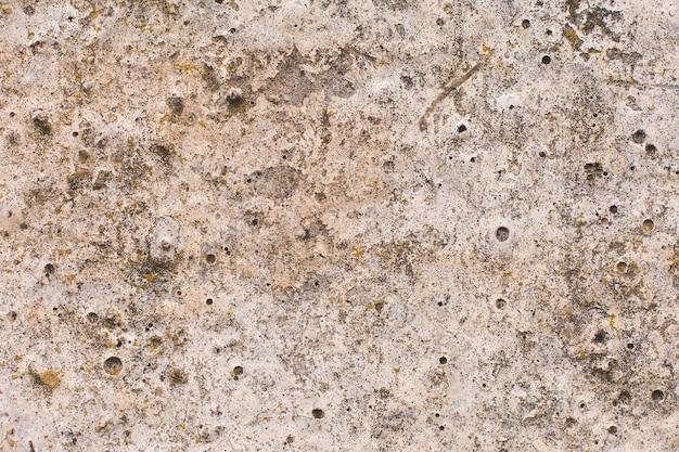 Béton de texture d'ardoise d'amiante couvert de lichen et de mousse, ciment naturel matériel d'industrie