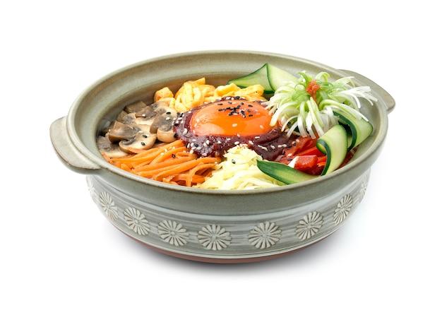 Bibimbub korean mixed rice assortiment de légumes