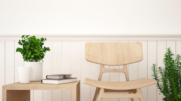 Bibliothèque dans le salon ou le café - rendu 3d