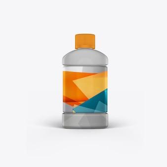 Bidon d'huile moteur sur un mur blanc