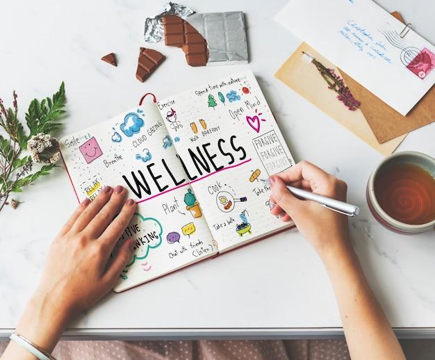 Bien-être exercice santé mode de vie nutrition concept
