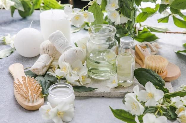 Bien-être spa massage cadre zen et relax concept composition du soin spa