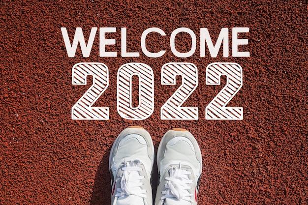 Bienvenue au concept de bonne année 2022