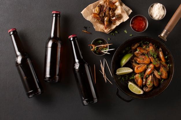 Bière aux crevettes. pub de bière