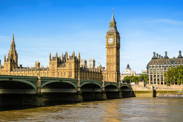 Big ben et la chambre du parlement, londres, royaume-uni