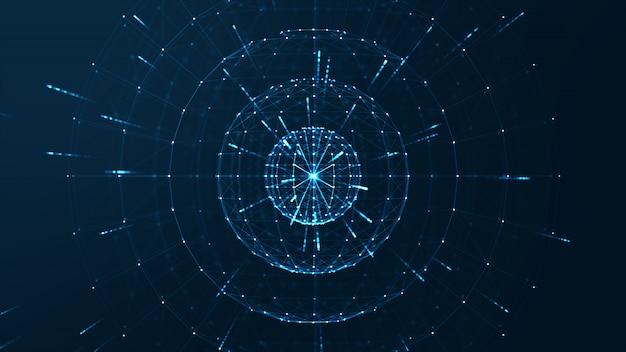 Big data center concept