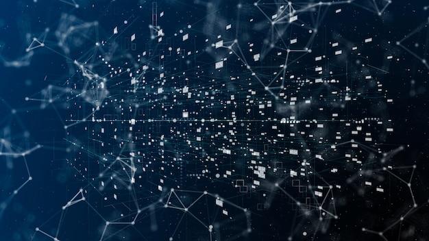 Big data complexe et connexion mondiale, illustration abstraite de l'internet matriciel et des mégadonnées