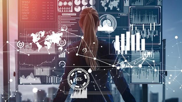 Big Data Technology For Business Finance Conceptuel. Photo Premium