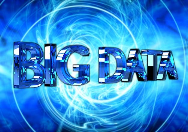 Big data texte, affiche