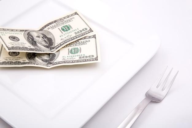 Bill sur assiette pour la nourriture