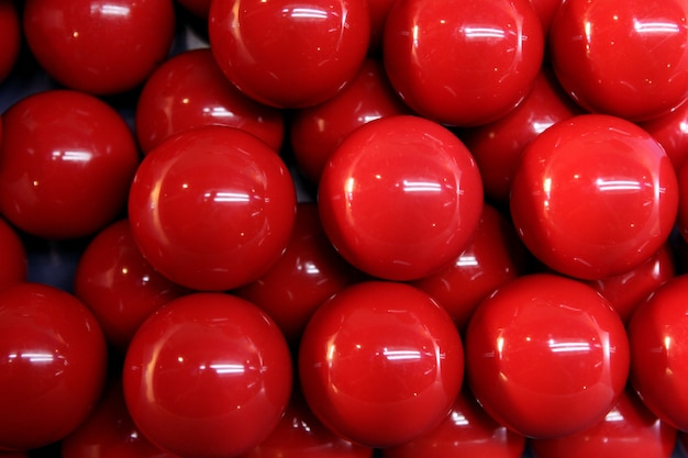 Billard beaucoup de boules rouges lignes texture d'arrière-plan