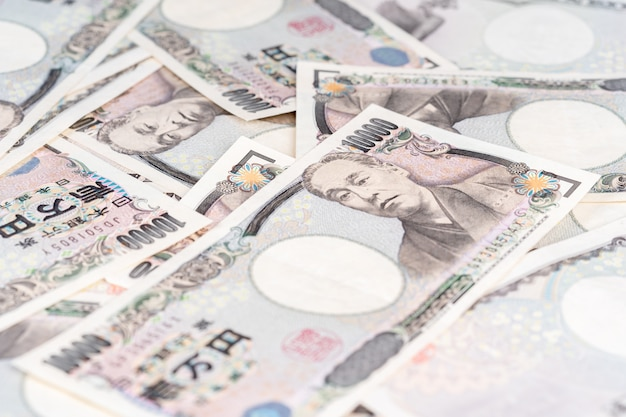 Billet de banque japonais, le yen est la monnaie officielle du japon