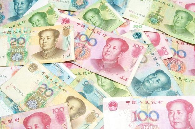 Billets d'argent colorés en chine