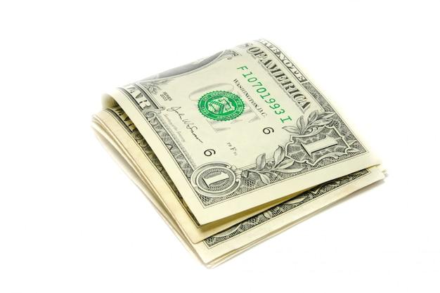 Billets de banque américains isolés