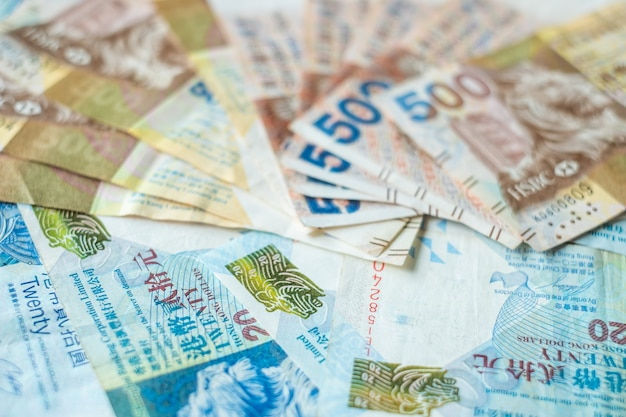 Billets de banque en devise de hong kong, dollars hk pour les affaires
