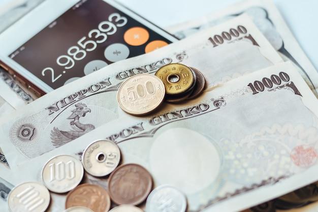 Billets de banque et pièces de monnaie du japon pour les entreprises