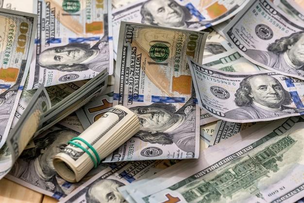 Billets d'un dollar américain en arrière-plan