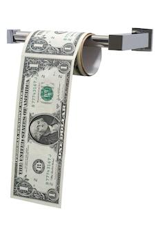 Billets de dollars papier toilette