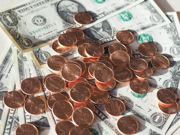 Billets et pièces en dollars (usd), états-unis (usa)