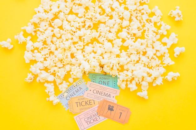 Billets de pop-corn et de film