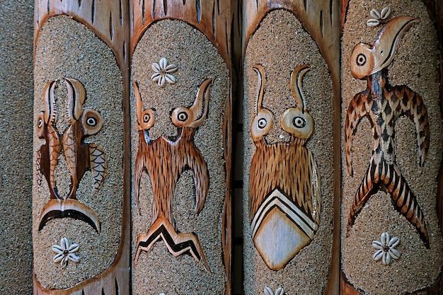 Birdman ou tangata manu motif l'un des motifs les plus célèbres de l'île de pâques au chili
