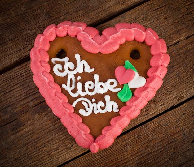 Biscuit coeur lebkuchenherzen ginger