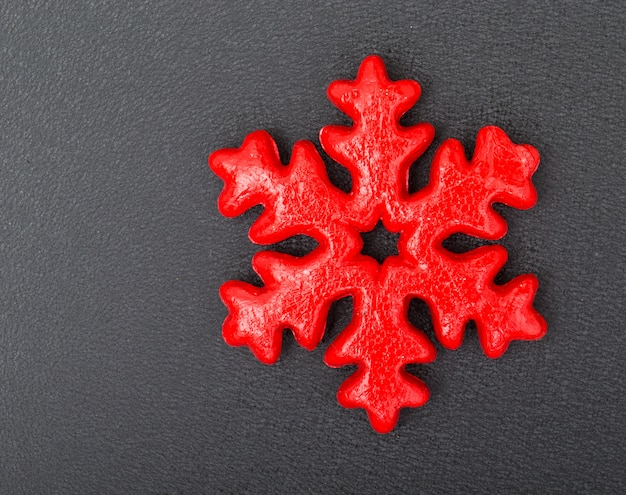 Biscuit flocon de neige rouge