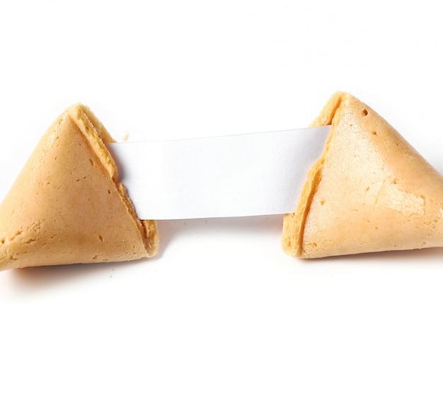 Biscuit de fortune avec du papier