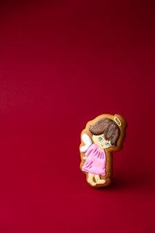Biscuit de pain d'épice de petits anges mignons