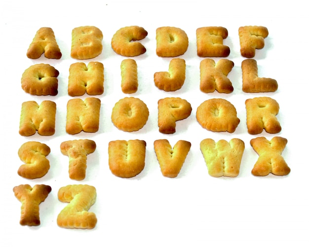 Biscuits abc lettres