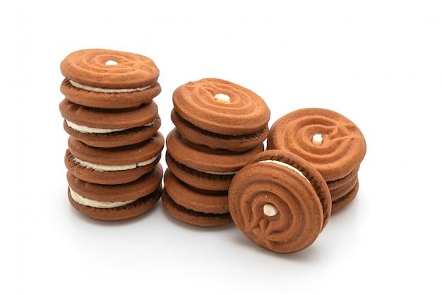 Biscuits au chocolat avec de la crème