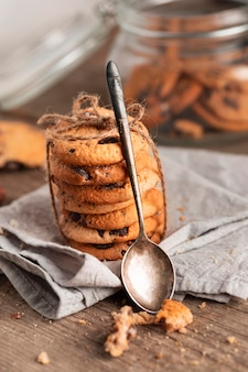 Biscuits au chocolat gros plan
