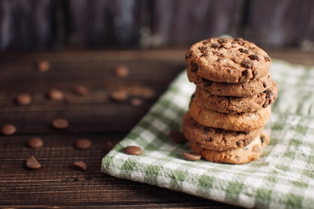 Biscuits au chocolat sans gluten à l'avoine