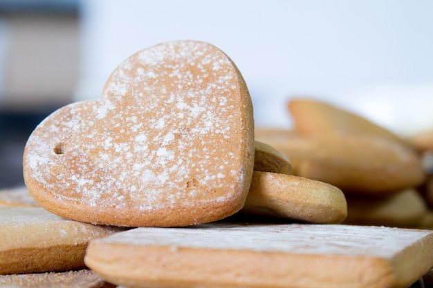 Biscuits au sucre sur une vitrine