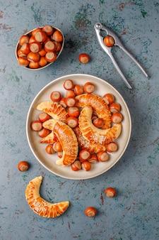 Biscuits aux noisettes aux noisettes, vue de dessus