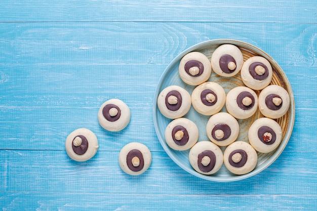 Biscuits aux noisettes aux noisettes, vue du dessus