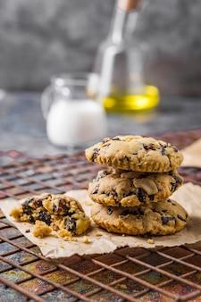 Biscuits aux pépites de chocolat, pâte à biscuits aux pépites de chocolat maison.