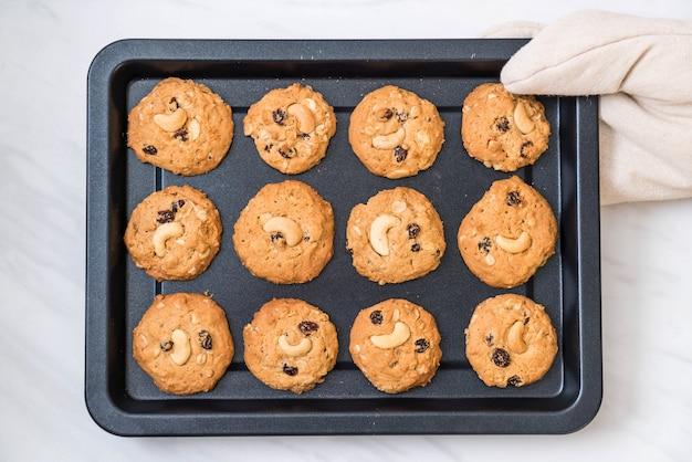 Biscuits aux raisins secs et noix de cajou